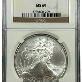 2010 United States 1oz Silver Eagle - NGC MS69