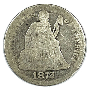 1872 United States Seated Liberty Dime - AG