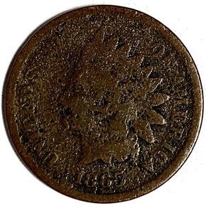 1865 United States Indian Head Cent Penny - AG
