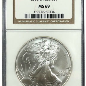 2006 United States 1oz Silver Eagle - NGC MS69