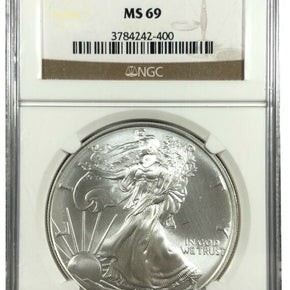 2004 United States 1oz Silver Eagle - NGC MS69