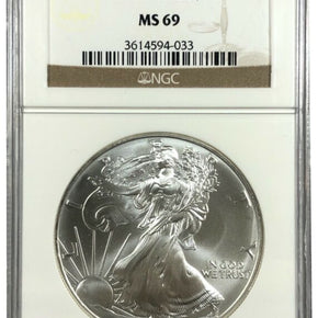 2003 United States 1oz Silver Eagle - NGC MS69