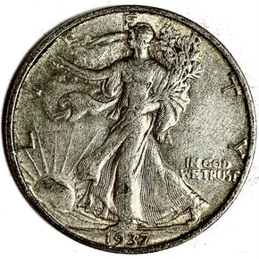 1937-S United States Silver Walking Liberty Half Dollar - XF