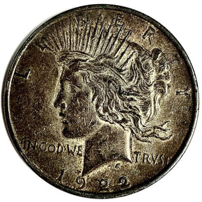 1922 United States Silver Peace Dollar - BU