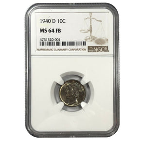 1940-D United States Mercury Dime - NGC MS64 FB