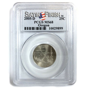 2005-D United States OREGON Statehood Quarter - PCGS MS68 - Satin Finish