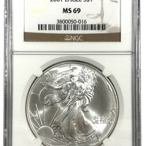 2001 United States 1oz Silver Eagle - NGC MS69