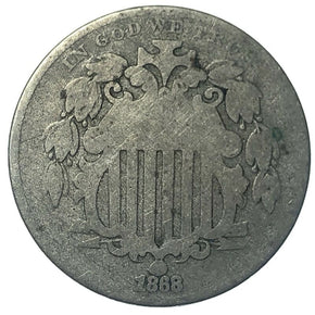 1868 United States Shield Nickel - G