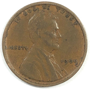 1909 V.D.B United States Lincoln Wheat Cent Penny - VF