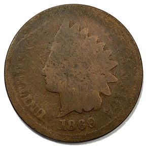 1869 United States Indian Head Cent Penny - AG