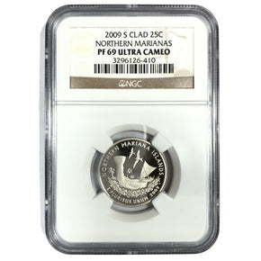 2009-S United States NORTHERN MARIANAS Quarter - NGC PF69 Ultra Cameo