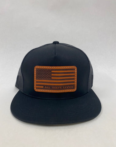 Flag Snapback Trucker(Flat bill)
