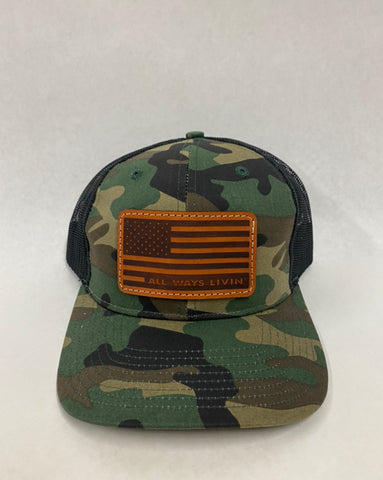 Camo/Black Flag Trucker