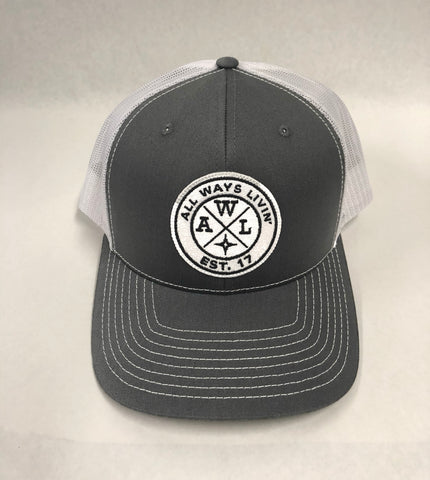 AWl Trucker - Charcoal Grey/White