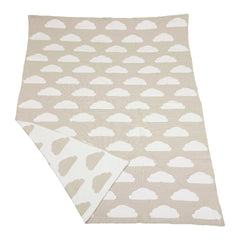 Little Bonbon beige clouds cot blanket