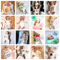 Premmie Milestone Cards - Online Exclusive - Digital Prints - 16 x 'Week Old' Cards