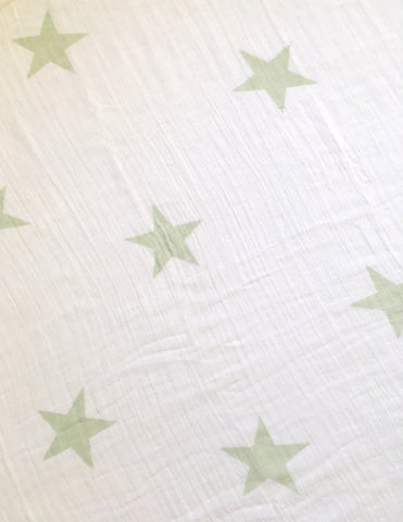 Aden + Anais swaddle - 100% cotton muslin - Mint stars