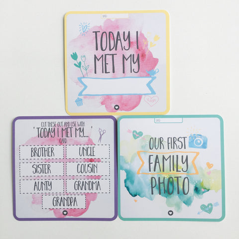 Premmie Milestone Cards - Digital Prints - 10 Cards