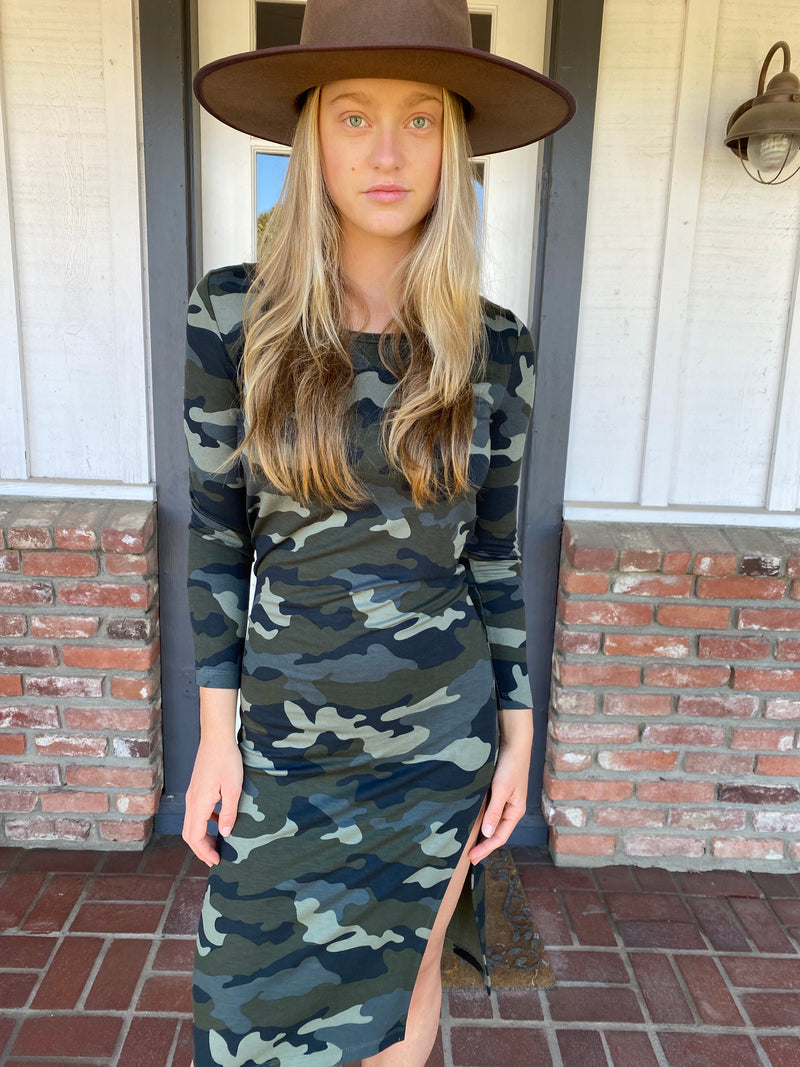 Can You See Me Now Camo Dress