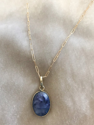 sodalite drop on gold fill