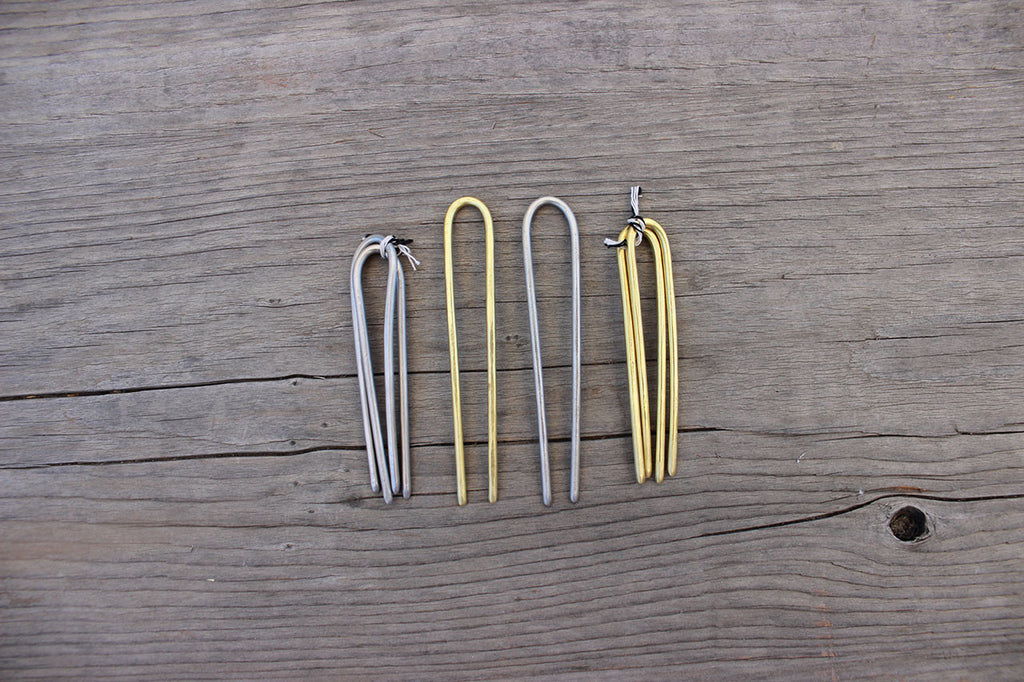 tiny brass and silver duo sets