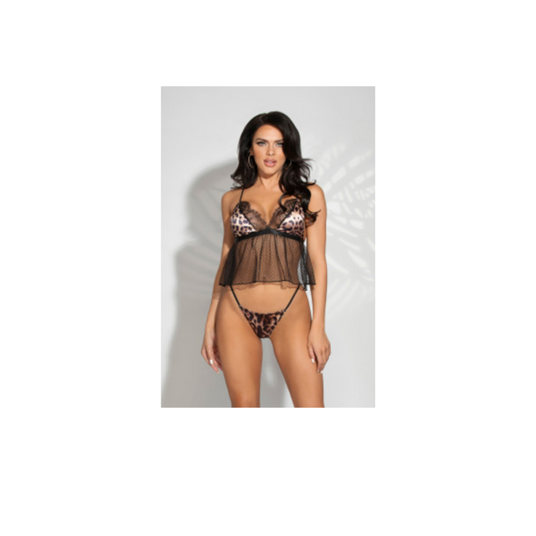 Feelin' Myself Halter Dot Mesh Footless Bodystocking - Queen Size