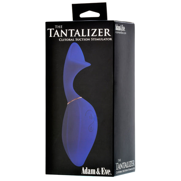 Adam & Eve Tantalizer Clit Suction Massager - Blue