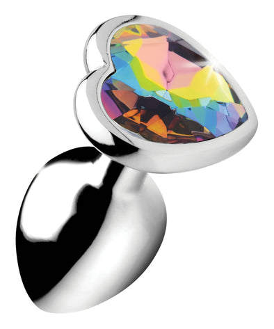 Rainbow Prism Heart Anal Plug - Small
