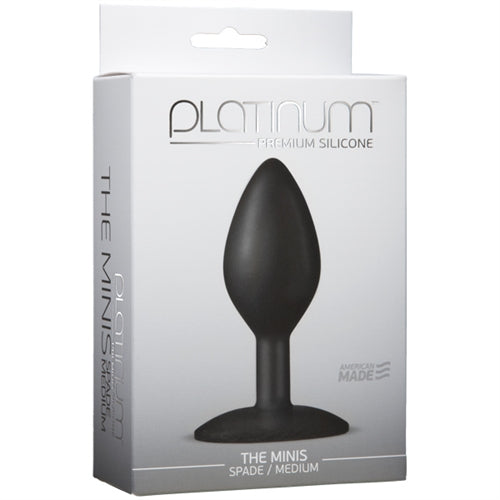 Platinum Premium Silicone - the Mini's - Spade Medium - Black