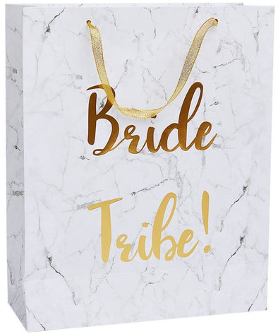 White and Gold Bride Tribe Gift Bag