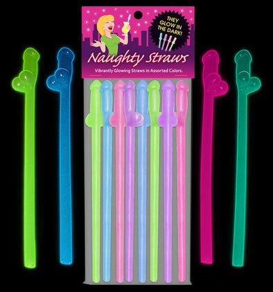 Glow-in-the-Dark Naughty Straws