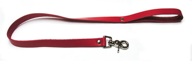 Leather Leash - Red