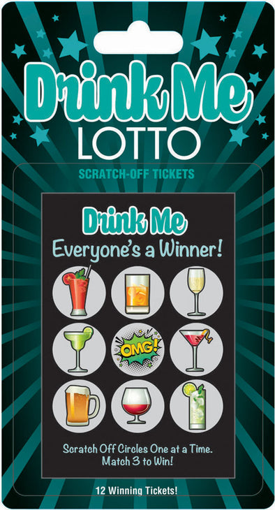 Drink Me Lotto 12 Winning Tickets!