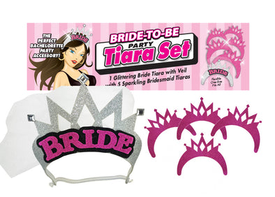 Bride-to-Be Party Tiara Set
