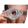 Peephole Clear Hollow Anal Plug - Large