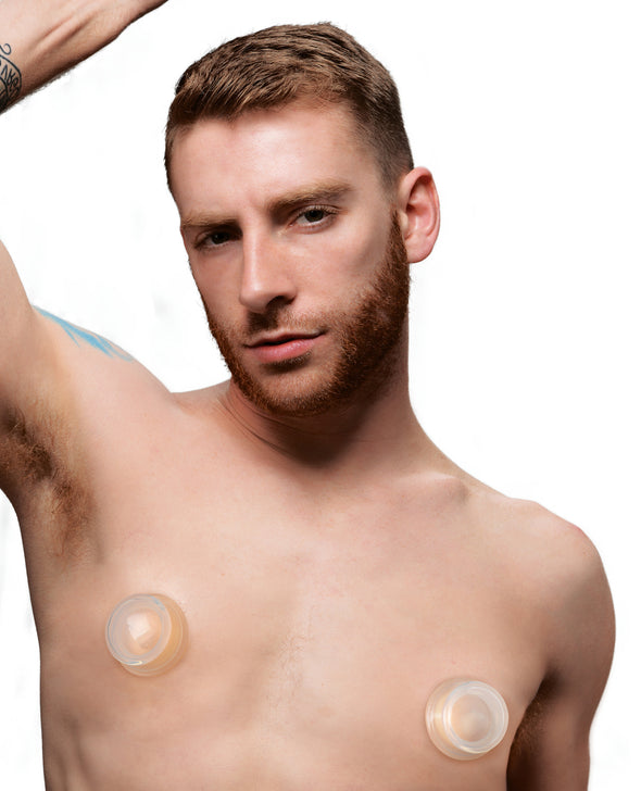 Clear Plunger Silicone Nipple Suckers - Small-Nipple Stimulators-XR Brands Master Series-Andy's Adult World