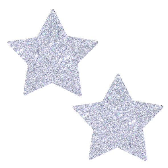 Silver Pixie Dust Glitter Starry Nights Nipztix  Pasties