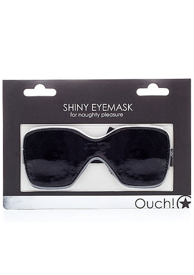Shiny Eyemask for Naughty Pleasure - Black