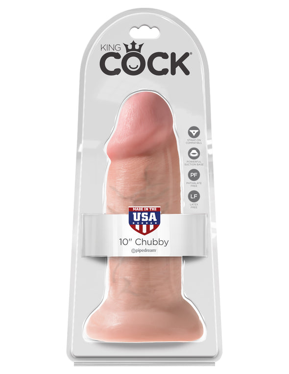 "King Cock 10"" Chubby - Light"