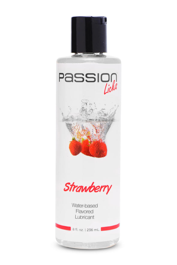 Passion Licks Strawberry Water Based Flavored  Lubricant - 8 Fl Oz - 236 ml
