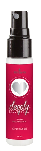 Deeply Love You Throat Relaxing Spray 1oz - Cinnamon Roll