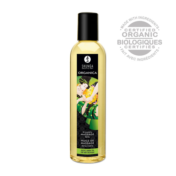 Kissable Massage Oil - Organica - Exotic Green Tea - 8.4 Fl. Oz.