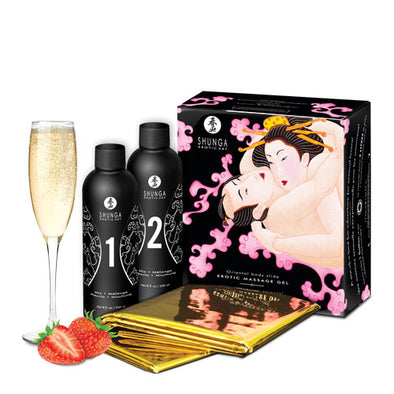 Oriental Body - to - Body - Massage Gel -  Champagne & Strawberries