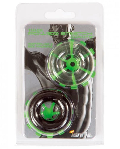Thick Power Stretch Donuts - 2 Pack - Black and Clear