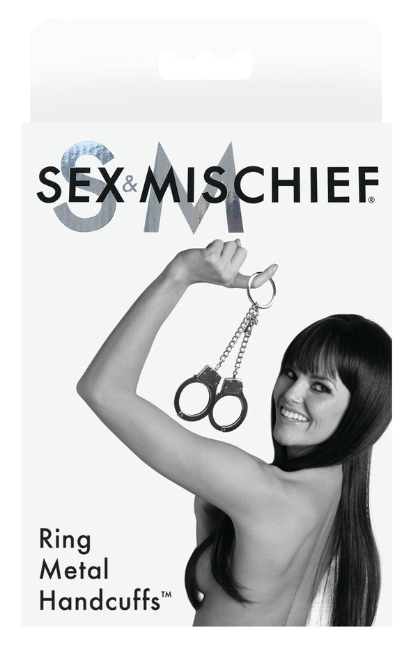 Sex and Mischief Ring Metal Handcuffs
