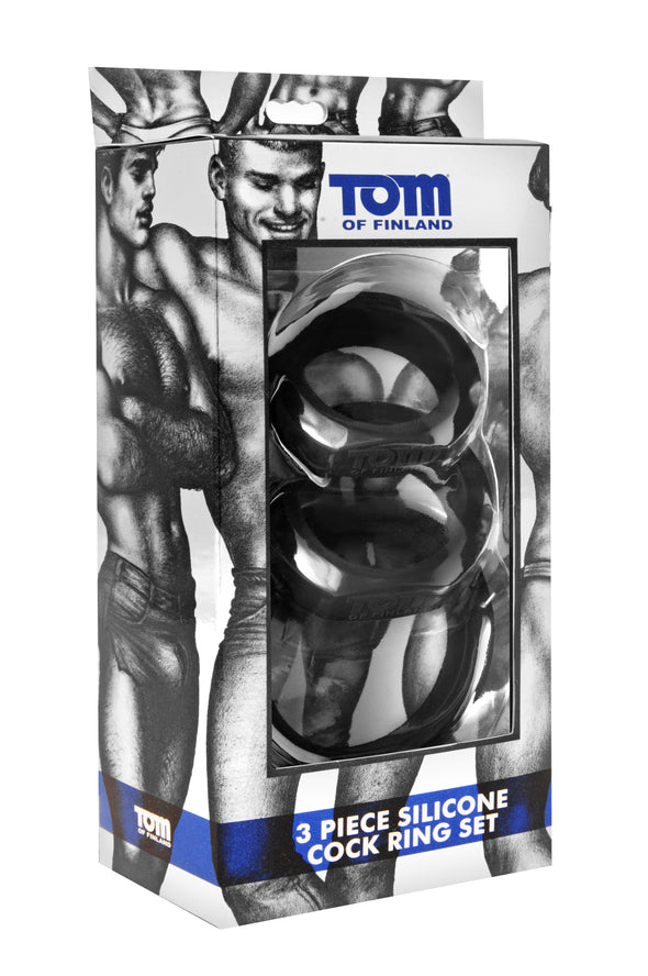 Tom of Fin 3 Pieces Silicone Cock Ring Set