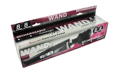 8 Speed 8 Mode Wand Rechargeable - Black
