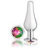 Cloud 9 Novelties Gems Silver Chrome Tall Plug - Large