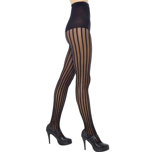 Sheer Striped Tights - Black Fv-21379