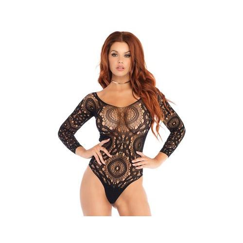 Thong Back Teddy - Small- Medium - Black